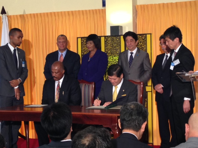 Creation of the Caribbean Islands Exchange Program — Prime Minister Shinzo Abe in Attendance; a Memorandum of Understanding (MOU) Signed Between the University of the West Indies and Sophia University