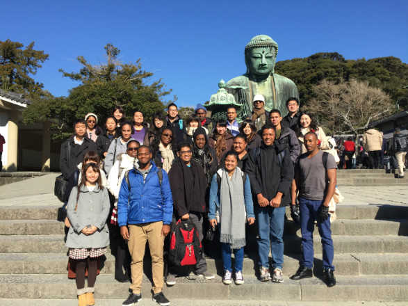 "Kamakura tour for the ""Pacific Islands and West Indies Students Invitation Program"