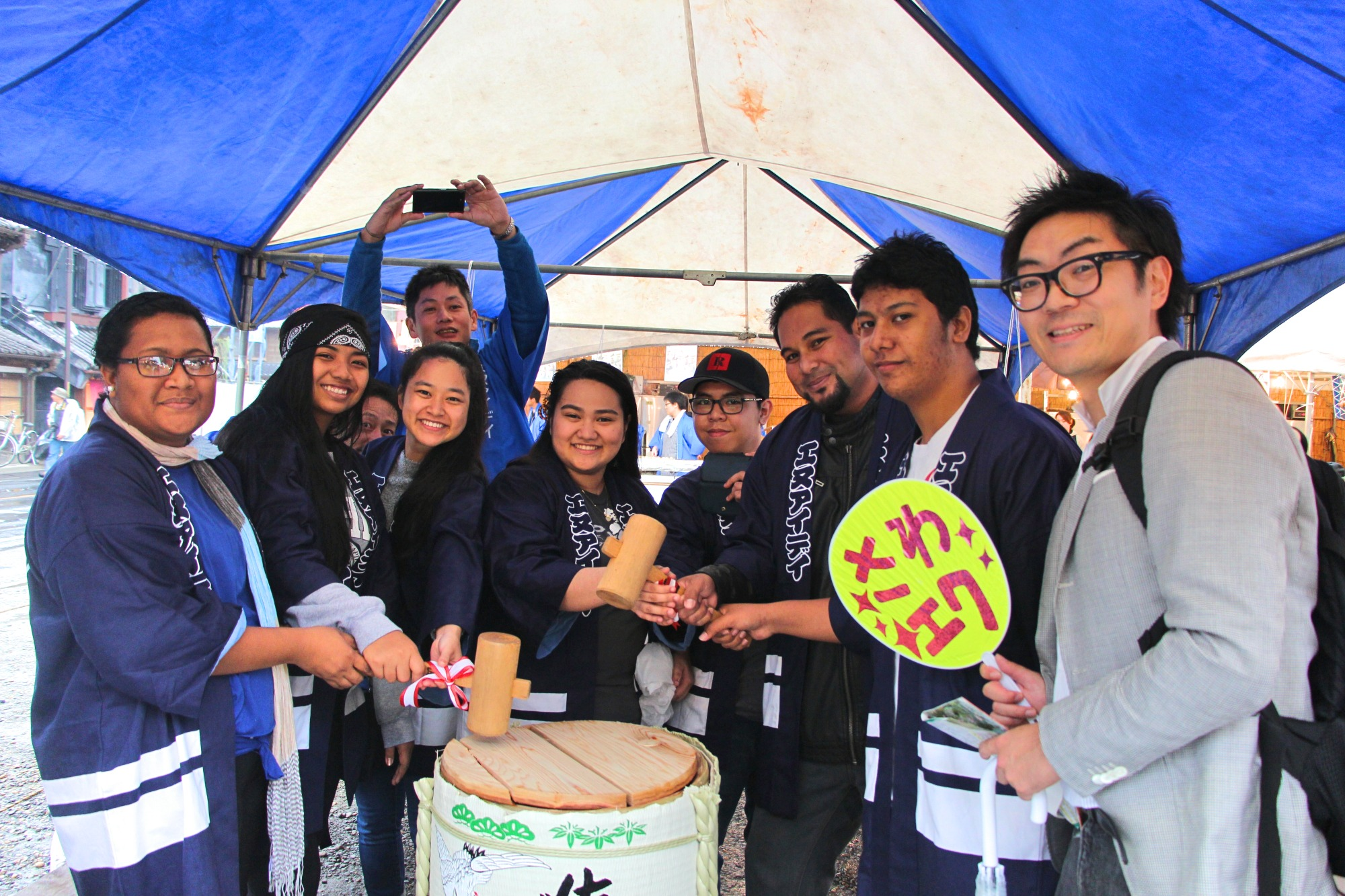Xavier Exchange Students Participate in Sawara Festival