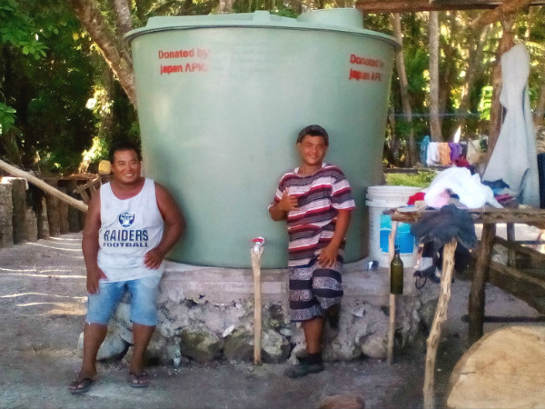 Water Tank Support for the Isolated Islands of Micronesia