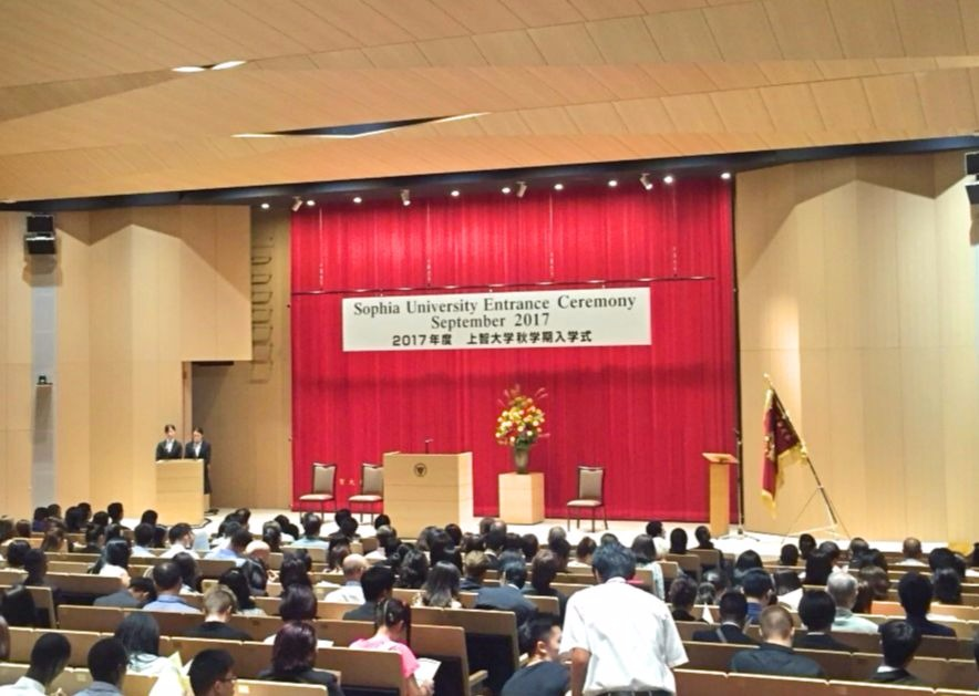 Xavier Exchange Students Attend Opening Ceremony at Sophia University